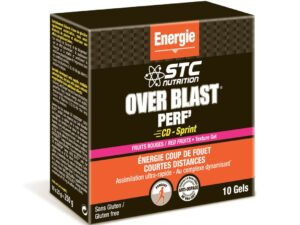 STC Nutrition gel Over Blast Perf CD Sprint fructe rosii